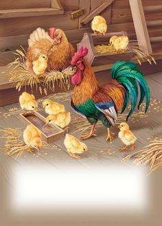Рисунки Петухов, Петушиное Искусство, Курица В Искусстве, Цыплята, Милые Животные, Картины С Изображением Птиц, Анималист