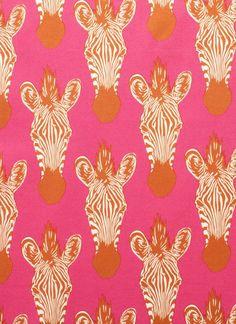 zebras | pink | orange