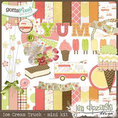 Designer Spotlight & Daily Download 1/19/16 by Jen Dipzinski Ice Cream Truck Page Kit