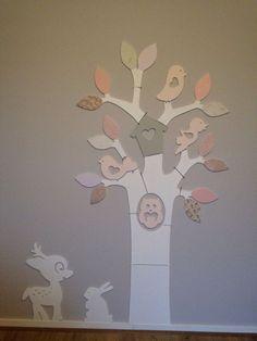 ideeen meisjeskamer boom op muur - Google zoeken