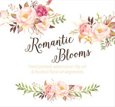 Romantic Blooms Watercolour Clip Art/Rose/Individual PNG files/Hand Painted by GraphicSafari on Etsy https://www.etsy.com/listing/220211726/romantic-blooms-watercolour-clip