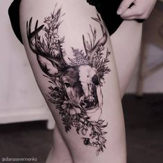 Tattoo Ideen Frauen - 30 Epic Tattoo Ideas For Woman - Tattoos - Frauen Neue Tattoos, Body Art Tattoos, Hand Tattoos, Piercing Tattoo, Piercings, Trendy Tattoos, Cool Tattoos, Hirsch Tattoo Frau, Ink Tatoo