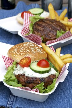 Medi Style Lamb Burgers