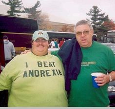 i beat anorexia. (not trying to be insensitive to people suffering anorexia - I know it's an awful disease) Funny Shit, The Funny, Funny Stuff, Funny Man, Awesome Stuff, T-shirt Humour, Into The Fire, Demotivational Posters, Funny Photos
