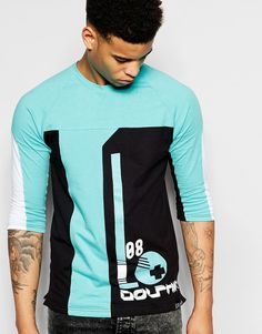 Pink Dolphin 3/4 Sleeve T-Shirt With Ball Print