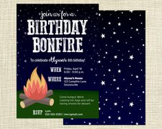 Campout birthday invitation party ideas pinterest birthdays printable campfire bonfire campout birthday party invitation filmwisefo