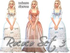 Sims 4 Updates: Sims Fans - Clothing, Female : Rococo third historical gowns by lenina_90, Custom Content Download!