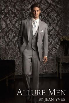 Rent the Heather Grey Allure Tuxedo by Allure Men®
