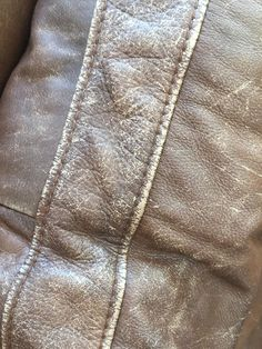 My husband got a phone call a few weeks ago from a woman in our neighborhood who wanted him to remove some furniture from her home as . Diy Leather Couch Repair, Paint Leather Couch, Leather Furniture Repair, Faux Leather Couch, Painting Leather, How To Clean Furniture, Furniture Redo, Leather Restoration, Leather Cleaning
