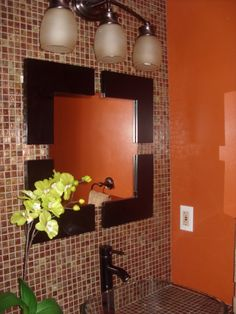 1000 images about bathroom decor ideas on pinterest for Orange and brown bathroom ideas