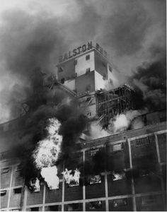 This day in St. Louis: January 10, 1962 - A grain dust explosion ripped through the Ralston Purina mill, starting one of the city's most spectacular fires. It also killed two employees and a firefighter. #STL250 via stltoday.com