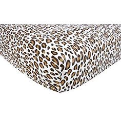 Leopard crib sheet