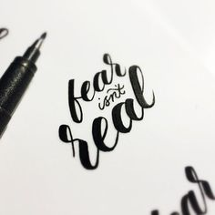 Beautiful Hand Lettering & Calligraphy | #1064 / Fear isnt real by Matt Vergotis