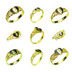 Personal and meaningful gift idea  22carat Yellow Gold & Enamel - Heart Shape Initial Ladies Rings  available at www.MarketOrders.net  #MarketOrders #B4B #Online #GoldJewellery #Platform #Marketplace #Retailers #SMEs #Manufacturers #Initial #Gold&Enamel #GoldRings #Rings #HeartShape #meaningful #PersonalGiftIdea #UK