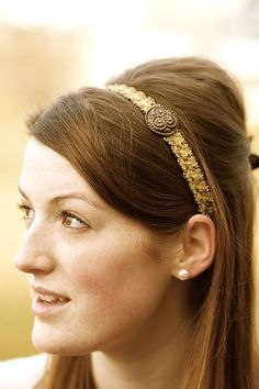 Embellished Headband Tutorial by Ruffles and Stuff #DIY #accessories  #headband