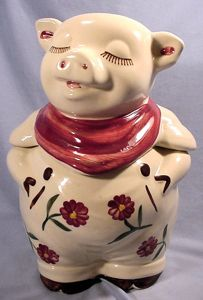 Shawnee Pottery , Smiley Pig Cookie Jar!
