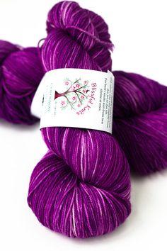 Cashmere Merino Hand Dyed Sock Yarn 115g by blissfulknitsyarn