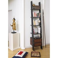 "Library 97"" Leaning Bookcase"