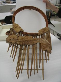 A shaman neck ring with bone carved amulets. collection of the Natural History Museum DC/ MD via Tommy Joseph FB