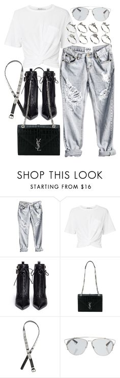 """Untitled #2416"" by mariie00h ❤ liked on Polyvore featuring T By Alexander Wang, Sergio Rossi, Yves Saint Laurent, H&M, Christian Dior and ASOS"
