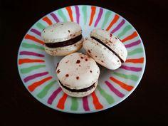 Coffee & chocolate macarons (recipe). Macarons de café y chocolate (receta)