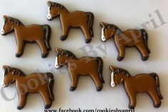 These Horse Cookies Are By April at Cookies By April http://www.facebook.com/cookiesbyapril via #TheCookieCutterCompany