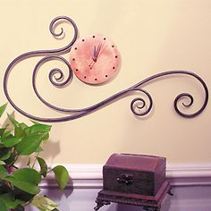 Forged Iron Scrolling Wall Clock