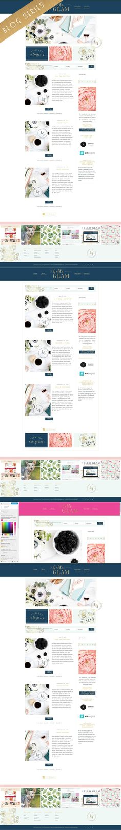 Blog Series Wordpress Genesis Theme. WordPress Blog Themes. $45.00