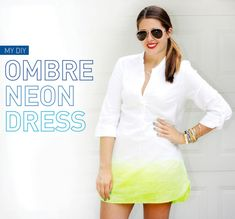 ombre neon dress - i spy diy  I've been dying (get it?) to do this with that white dress that's been in the back of my closet forever
