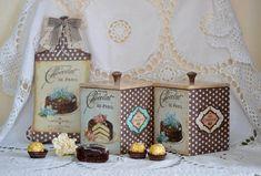 """Decoupage - decoupage enthusiasts Site - DCPG.RU   Chocolate and sweets №40: Set kitchen """"Chocolat de Paris"""""""