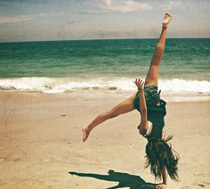 cartwheels on the beach