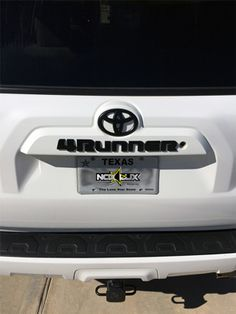 Nox Lux - Toyota Emblem Matte Black Out Overlay Badge Kit - 11 Pieces - We Offer The Best In Automobile Accessories. 2010 4runner, Toyota 4runner, 4runner Accessories, Car Accessories, Toyota Sequioa, Future Trucks, 4 Runner, Jeeps, Goat