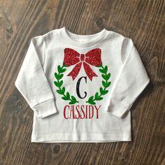 Christmas Monogram Toddler Shirt
