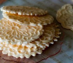 Pizzelles...yummy, nonna always made the best
