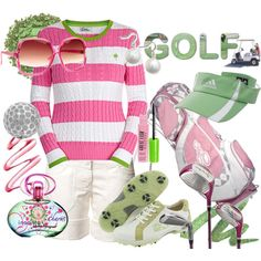 Let's play golf !, created by sunnyclaire.polyvore.com