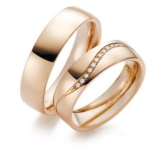 Wedding ring in rose gold High Jewelry, Luxury Jewelry, Gold Jewelry, Jewelry Accessories, Engagement Rings Couple, Couple Rings, Wedding Rings Simple, Wedding Ring Bands, Gold Earrings Designs