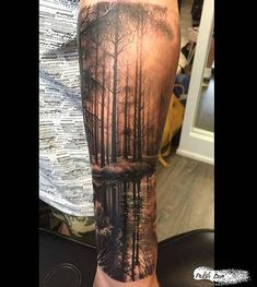 tattoo - # Künstler # t… Tatuagens - diy tattoo images - Forest Tattoo Sleeve, Tatto Sleeve, Nature Tattoo Sleeve, Forest Tattoos, Full Sleeve Tattoos, Sleeve Tattoos For Women, Tattoo Sleeve Designs, Tattoo Nature, Forearm Sleeve