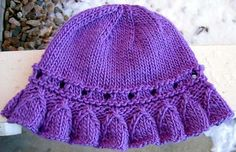 Ravelry: Bell Ruffle Toddler Hat pattern by Kathy North