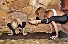 6 Yoga Poses To Do With Your Kids WHAT?!  Coolest mom, ever...