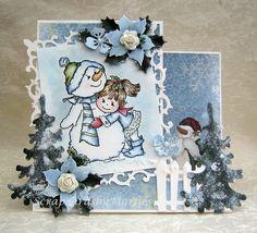 Scrapcards by Marlies: Snowman hugs