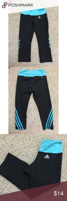 Adidas Capri leggings! Spandex-like material perfect for running! These are in perfect condition! No rips, stains, or snags! adidas Pants Leggings