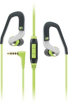 Sennheiser - Sport Ear-Hook Earbud Headphones - Green/White/Gray, OCX 686G SPORTS