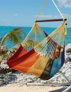 caribbean jumbo hammock chair   rainbow beachside hammocks 80 00 caribbean jumbo hammock chair 48 inch rainbow polyester hanging      rh   pinterest