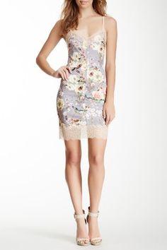 Lace Trim Floral Mini Dress gracia