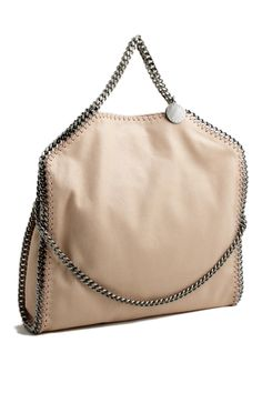 32c7eaff276f2 Stella McCartney falabella three chain poudre tote bag Stella McCartney  shop online