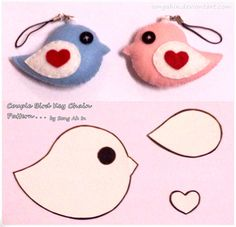 felt keyring templates - Google Search