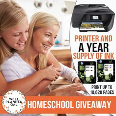 One of the most frequently used tools in homeschooling is a printer and ink. This year, Well Planned Gal is giving away an all-in-one wireless printer and a year long supply of ink. Print up to 10,620 pages this year for free!