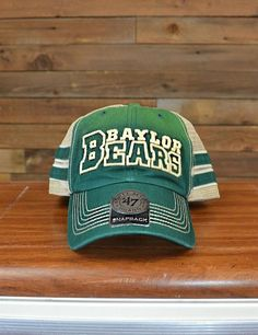 Baylor Bears green gold cap