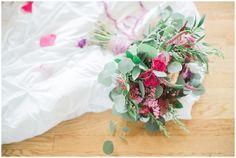 purple flower bouquet, purple flowers, bridal boudoir, Misty Saves the Day, Yours Truly Portraiture