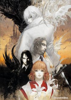 Castlevania: Aria of Sorrow, promotional artowrk and character design by Ayami Kojima.